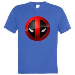 Мужская футболка  с V-образным вырезом Deadpool Logo - FatLine