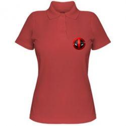 Женская футболка поло Deadpool Logo - FatLine