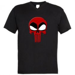 ������� ��������  � V-�������� ������� Deadpool Skull - FatLine