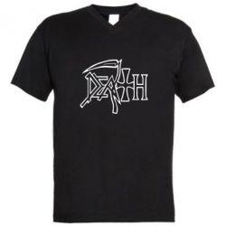 Мужская футболка  с V-образным вырезом death - FatLine