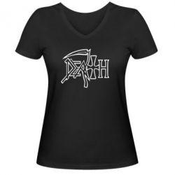 Женская футболка с V-образным вырезом death - FatLine