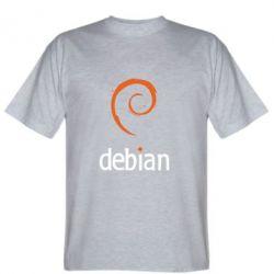 Мужская футболка Debian - FatLine