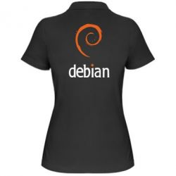 Женская футболка поло Debian - FatLine