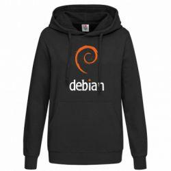 Женская толстовка Debian - FatLine