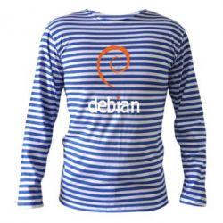 Тельняшка с длинным рукавом Debian - FatLine