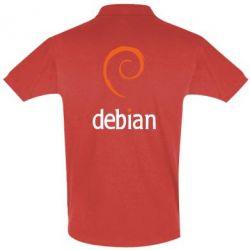 Футболка Поло Debian - FatLine