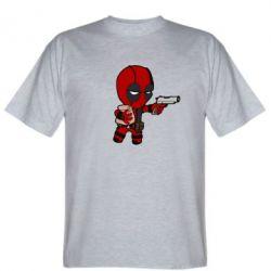 Мужская футболка Дедпул с пакетиком - FatLine