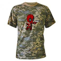 Камуфляжная футболка Дедпул с пакетиком - FatLine