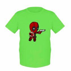 Детская футболка Дедпул с пакетиком - FatLine