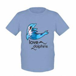 Детская футболка Дельфин