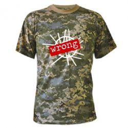 Камуфляжная футболка Depeche Mode Wrong - FatLine