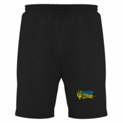 Мужские шорты Детский рисунок флаг Украины - FatLine