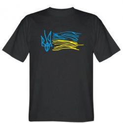 Мужская футболка Детский рисунок флаг Украины - FatLine
