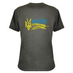 Камуфляжная футболка Детский рисунок флаг Украины - FatLine