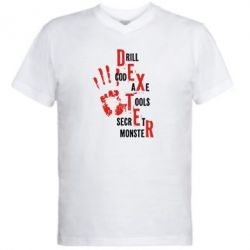 Мужская футболка  с V-образным вырезом Dexter - FatLine