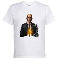 Мужская футболка  с V-образным вырезом Diablo Suicidd Squad - FatLine