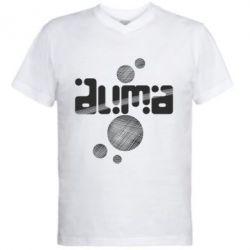 Мужская футболка  с V-образным вырезом Дима