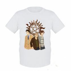 Детская футболка Дин, Сэм и Кас