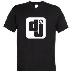 Чоловічі футболки з V-подібним вирізом DJ star - FatLine