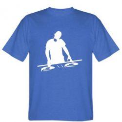 Мужская футболка Dj за работой - FatLine
