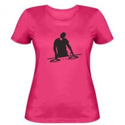 Женская футболка Dj за работой - FatLine