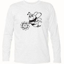Футболка с длинным рукавом Добрая пчелка - FatLine