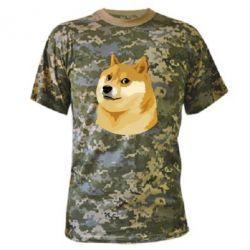 Камуфляжная футболка Doge - FatLine