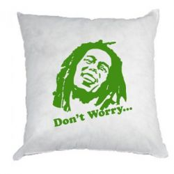 Подушка Don't Worry (Bob Marley) - FatLine