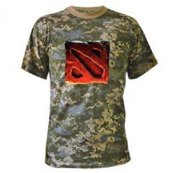 Камуфляжная футболка Dota 2 3d Logo - FatLine