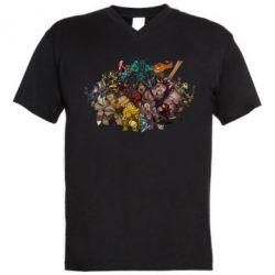 """Мужская футболка  с V-образным вырезом Dota 2 """"Everybody here"""" - FatLine"""