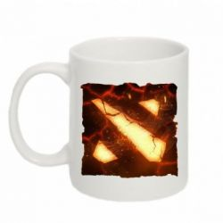 Кружка 320ml Dota 2 Fire Logo - FatLine