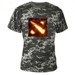 Камуфляжная футболка Dota 2 Fire Logo - FatLine