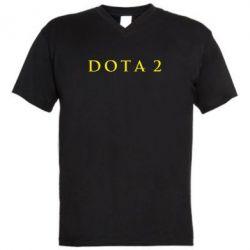 Мужская футболка  с V-образным вырезом Дота 2 - FatLine