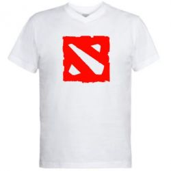Мужская футболка  с V-образным вырезом Dota Logo Дота - FatLine