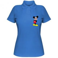 Женская футболка поло Довольный Микки Маус - FatLine