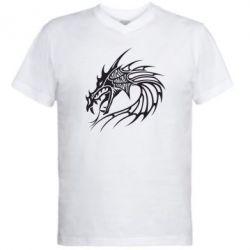 Мужская футболка  с V-образным вырезом Dragon - FatLine