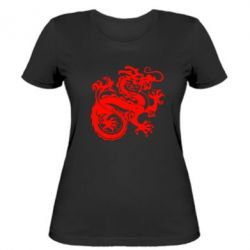 Женская футболка Дракон - FatLine