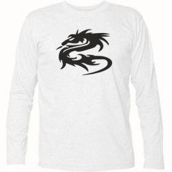 Футболка с длинным рукавом Дракон - FatLine