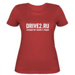 Женская футболка Drive2.ru - FatLine