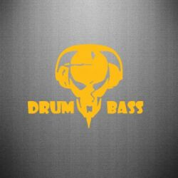 Наклейка Drumm Bass - FatLine