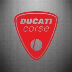 Наклейка Ducati Corse - FatLine