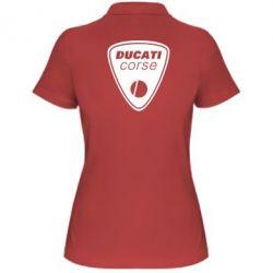 Женская футболка поло Ducati Corse - FatLine