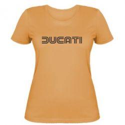 Женская футболка Ducati Vintage - FatLine