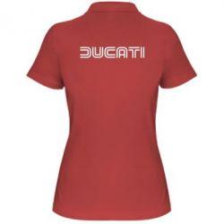 Женская футболка поло Ducati Vintage - FatLine