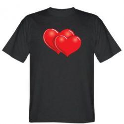 Мужская футболка Два сердца - FatLine