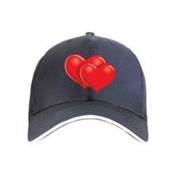 кепка Два сердца