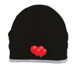 Шапка Два сердца - FatLine