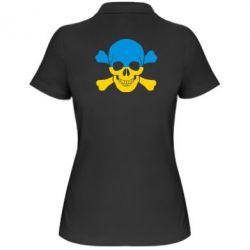 Женская футболка поло Двокольоровий череп - FatLine