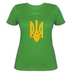 Женская футболка Двокольоровий герб України - FatLine