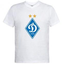 Мужская футболка  с V-образным вырезом Dynamo Kiev - FatLine